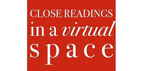 CLOSE READINGS IN A VIRTUAL SPACE: with Juliana Spahr tickets