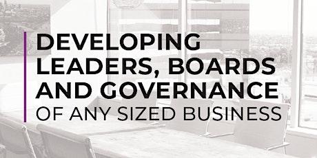 DIRECTOR & BOARD DEVELOPMENT - YOUR LEADERSHIP APPROACH tickets