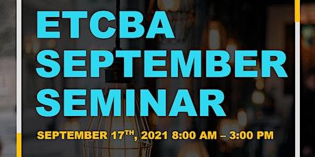 ETCBA Seminar tickets