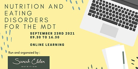 Nutrition and Eating Disorders for the MDT tickets