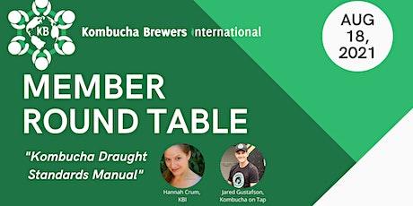Member Round Table: Kombucha Draught Standards Manual tickets