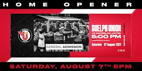 Guelph Union L1O-U Home Opener vs. Waterloo United, 5PM KO tickets