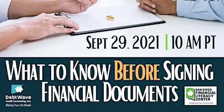 What to Know Before Signing Financial Documents tickets