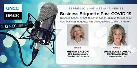 Espresso Live: What Business Etiquette Looks Like Post-COVID-19 tickets