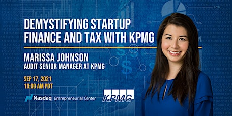 Demystifying Startup Finance and Tax with KPMG tickets