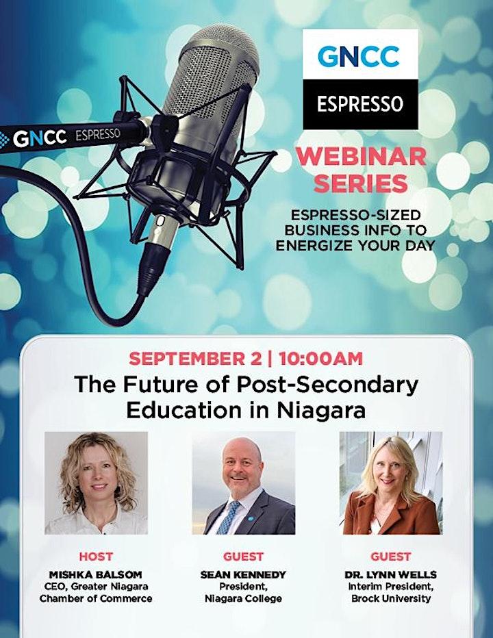 Espresso Live: The Future of Post Secondary Education in Niagara image