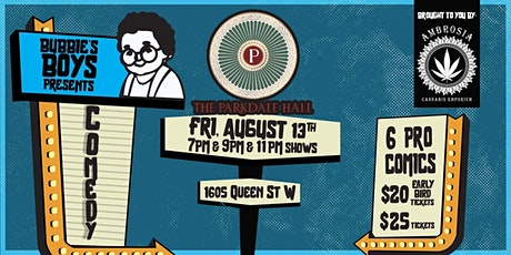 Bubbies Boys Presents : Friday Night Comedy @ Parkdale Hall tickets