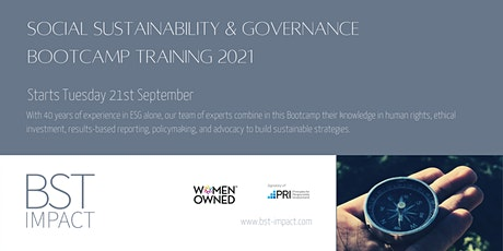 20 hours Bootcamp Training  on Social Sustainability & Governance tickets
