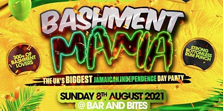 BASHMENT MANIA - Jamaican Independence Party tickets