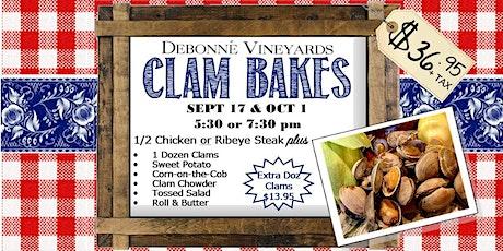 Clam Bakes at Debonne Vineyards! tickets