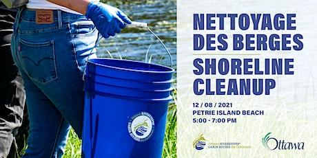 Shoreline cleanup at Petrie Island // Nettoyage des berges à l'Île Pétrie tickets