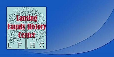 Lansing Family History Center Virtual Seminar - August 2021 tickets