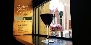 Donkey & Goat Wine Dinner at Revival Bar+Kitchen