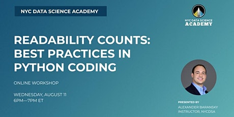Readability Counts: Best Practices in Python Coding ingressos