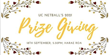 UC Netball Prizegiving 2021 tickets