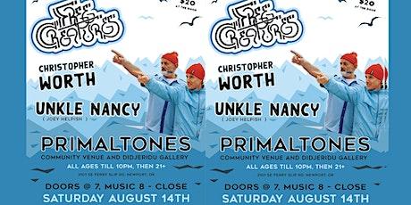 Free Creatures, Unkle nancy, Christopher Worth live at Primaltones! tickets