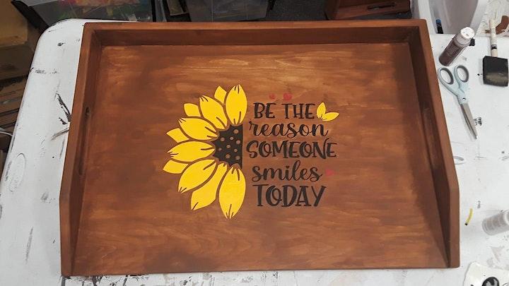 Wooden Stove Cover Painting Class@5:00pm @Ridgewood Winery Bboro  11.13.21 image