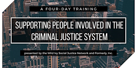 Supporting People Involved in the Criminal Justice System tickets