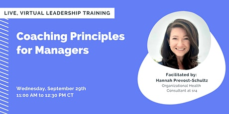 Coaching Principles  for Managers tickets