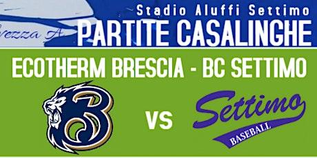 BC Settimo vs Ecotherm Brescia - SERIE A BASEBALL - biglietti