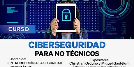 Curso Ciberseguridad para no técnicos boletos