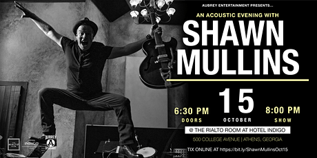 Acoustic evening with Shawn Mullins tickets