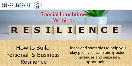 How to Build Personal & Business Resilience tickets