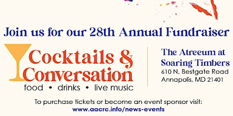 Cocktails and Conversation: 28th Annual Fundraiser tickets