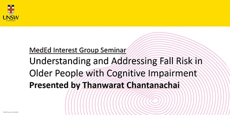 Understanding & Addressing Fall Risk in Older People w/Cognitive Impairment tickets