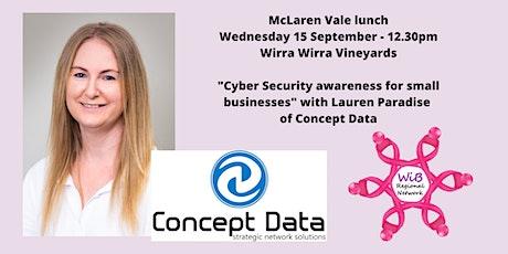 McLaren Vale lunch - Women in Business Regional Network - Wed 15/9/2021 tickets