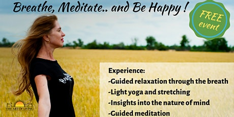 Breathe Away Your Stress - An introduction session to SKY Breath Meditation tickets