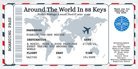 Around The World In 88 Keys - A music, food and wine pairings event. tickets