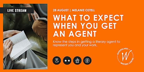 LIVE STREAM: What To Expect When You Get An Agent with Melanie Ostell tickets