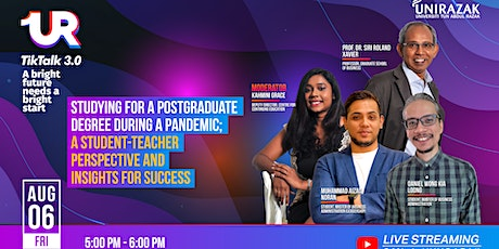 UR TikTalk 3.0 : Studying For A Postgraduate Degree During A Pandemic tickets
