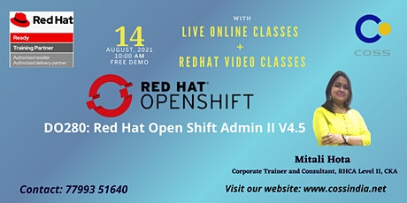 A Free Webinar On Redhat Openshift Administration II (V4.5) tickets