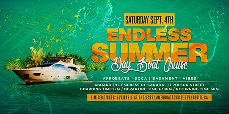 Endless Summer - A Day Boat Cruise tickets