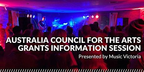 ONLINE   Australia Council Grant Information Session (Central Victoria) tickets