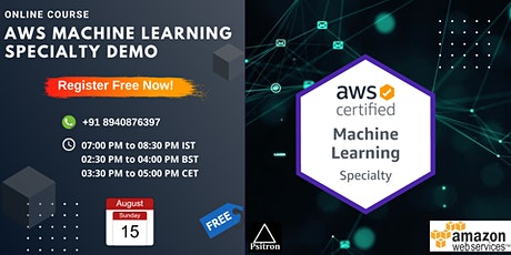 AWS Machine Learning Specialty Course Demo tickets