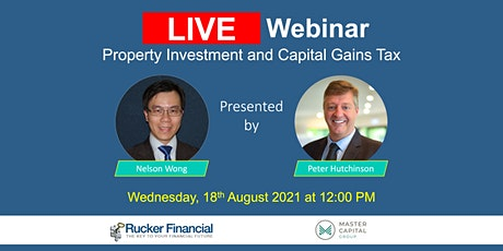 LIVE webinar  Property Investment and Capital Gains Tax tickets