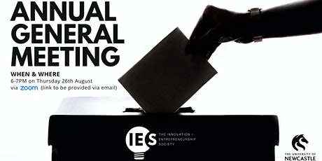 I+E Society Annual General Meeting tickets