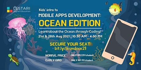 Kids' intro to Mobile Apps Development: Ocean Edition tickets