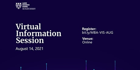 Lagos Business School - Virtual MBA Information Session tickets