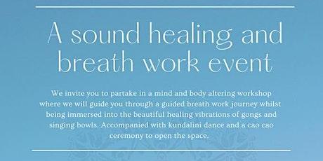 Sound healing and breath work event tickets