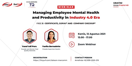 Managing Employee Mental Health and Productivity in Industry 4.0 Era tickets