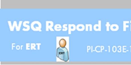 WSQ Respond to Fire Emergency in Buildings (PI-CP-103E-1)Run 209 tickets