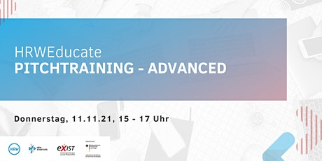 HRWEducate: Pitchtraining- Advanced Tickets