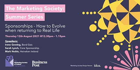 Sponsorships - How to Evolve when Returning to Real Life. tickets