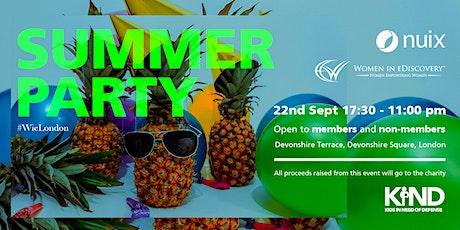 WiE Summer Party tickets