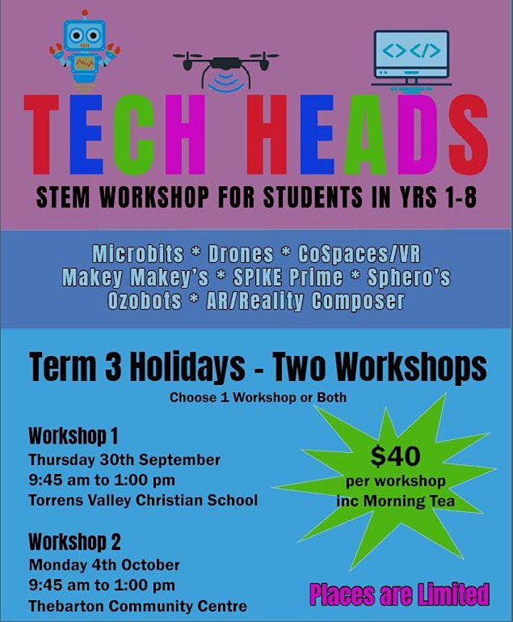 Tech Head Kids STEM Workshop 2 Monday 4 October 2021 image