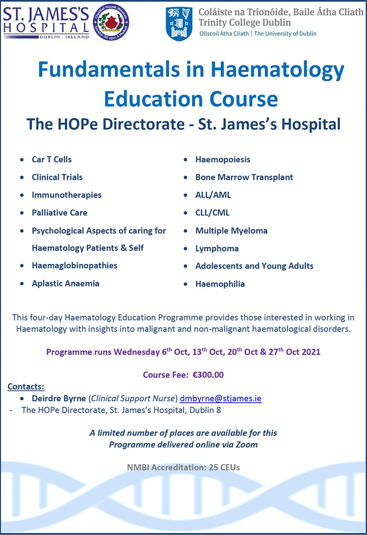 Fundamentals in Haematology Education Course image